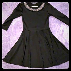 Beautiful long sleeve black dress